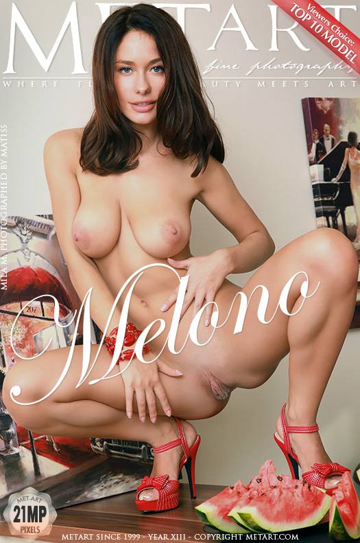 Magazine coverMila M unattired large breasts