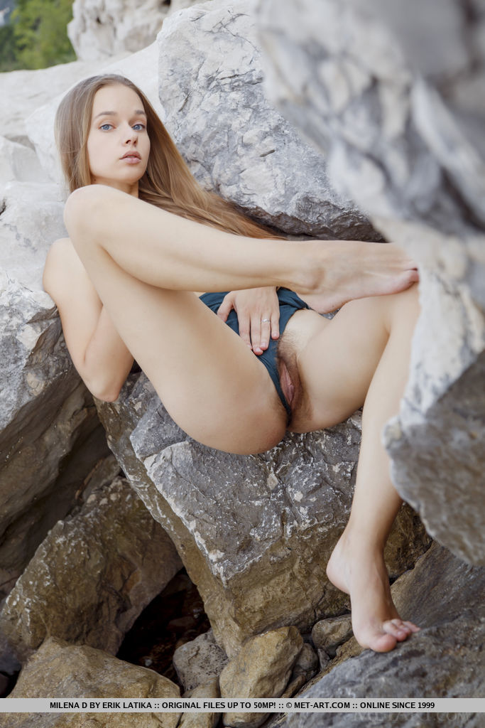 This lady has striking small titties portrait