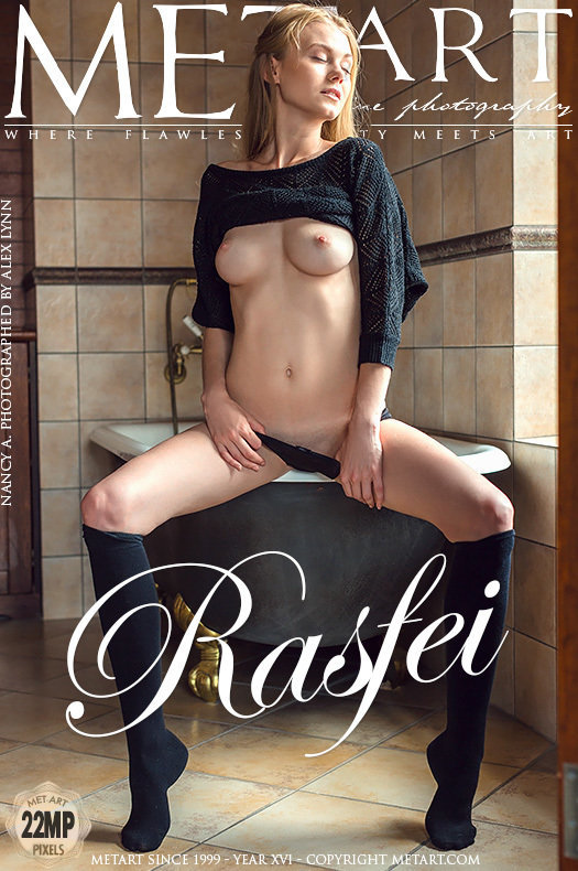 On the magazine cover of Rasfei MetArt is lofty Nancy A