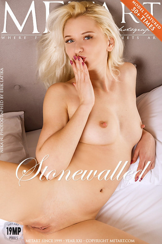 On the cover of Stonewalled MetArt is stunning Nika N