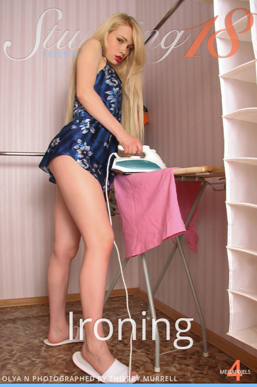 On the magazine cover of Olya - Ironing Stunning 18 is stunning Olya N