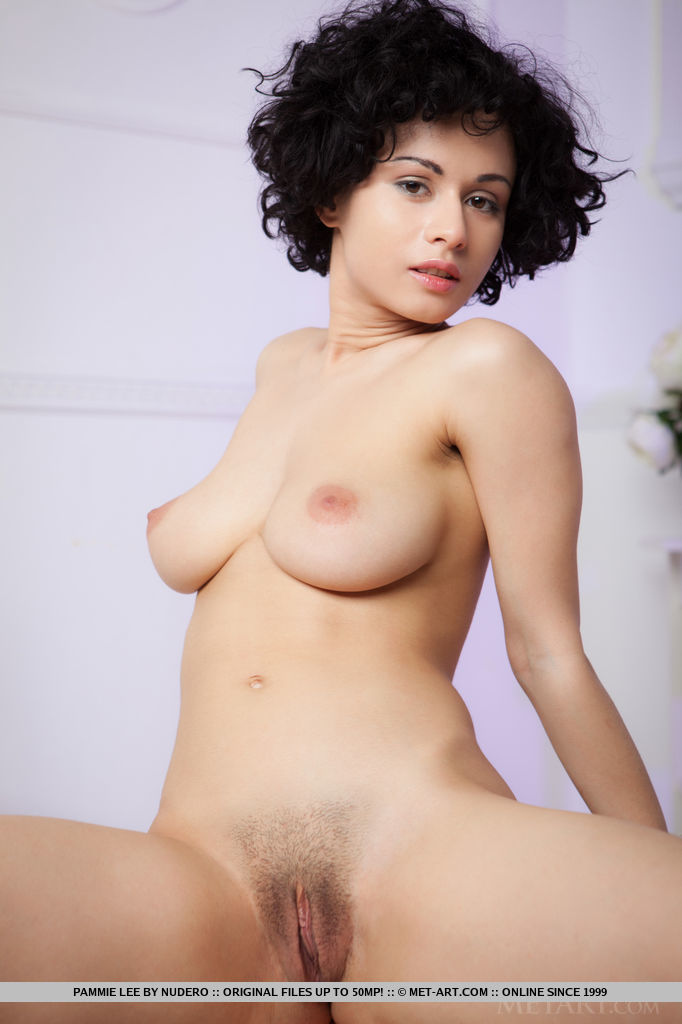 This young lady has erotic big boobs and Black hair, Brown eye