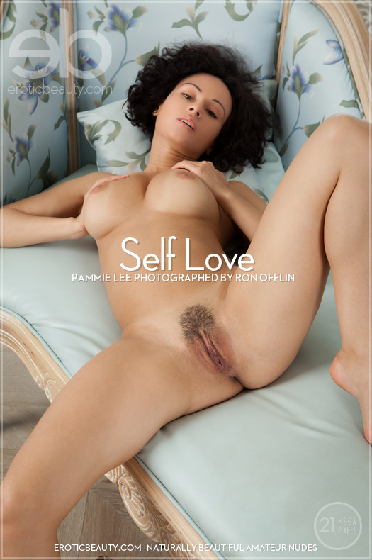 On the magazine cover of Self Love Erotic Beauty is magnificent Pammie Lee