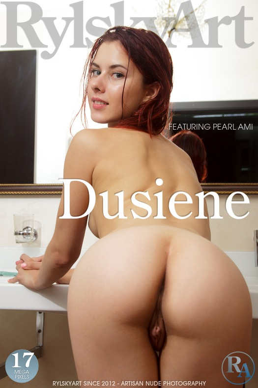 damsel has breathtaking Red hair, Blue eye