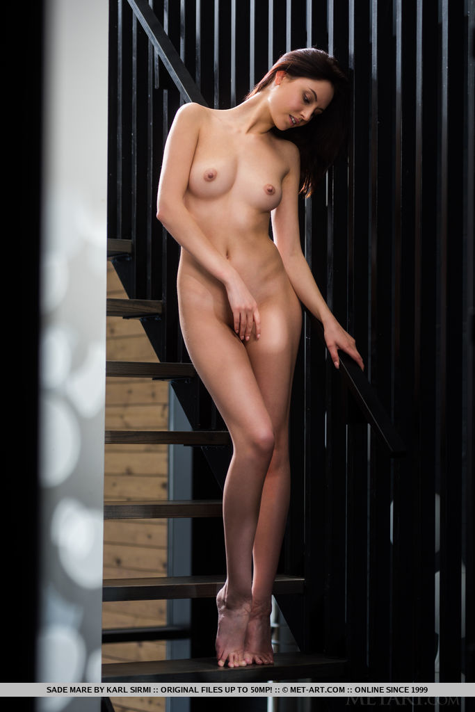 Best overwhelming model Sade Mare in bald sessions