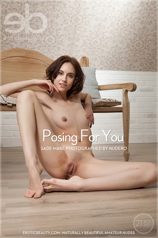 On the magazine cover of Posing For You Erotic Beauty is grand Sade Mare