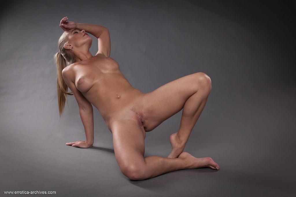 This girl has medium boobs and Blonde hair