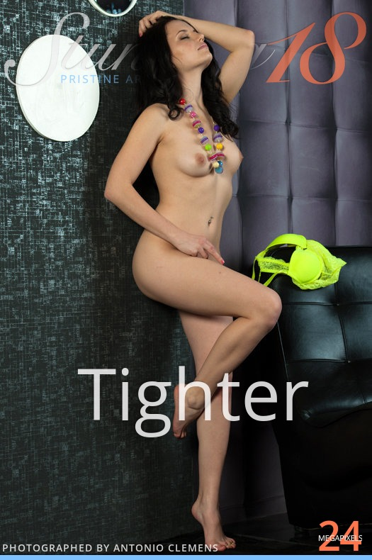 On the magazine cover of Tighter Stunning 18 is awe-inspiring Solana A