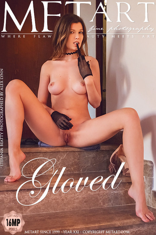 On the cover of Gloved MetArt is astonishing Stefania Beatty