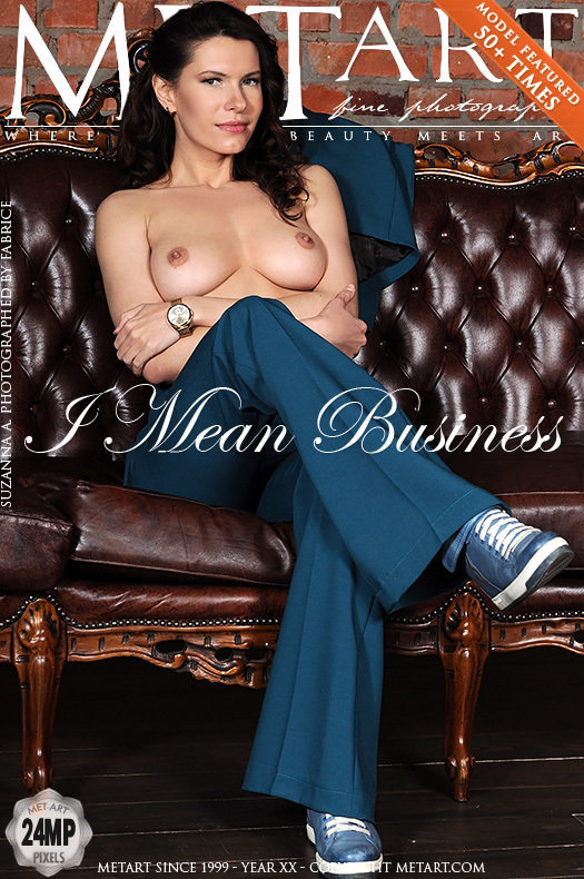 On the cover of I Mean Business MetArt is moving Suzanna A