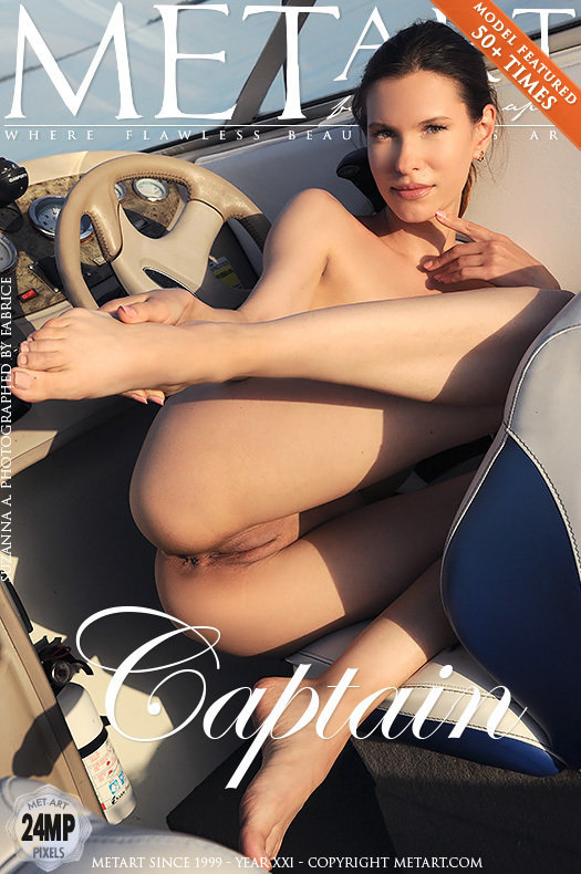 On the magazine cover of Captain MetArt is striking Suzanna A