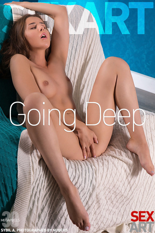 On the magazine cover of Going Deep SexArt is staggering Sybil A
