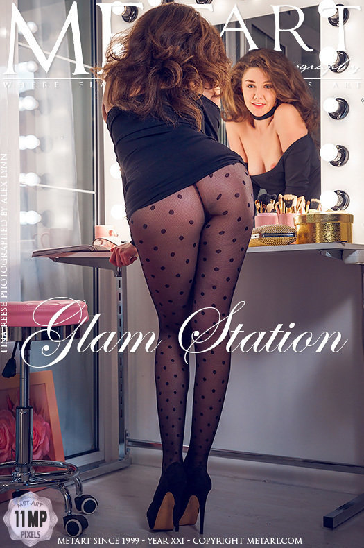 On the magazine cover of Glam Station MetArt is inspiring Tina Reese