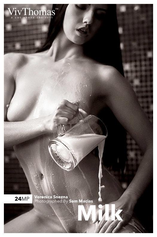 Magazine coverVeronica Snezna undressed medium naturalboobs