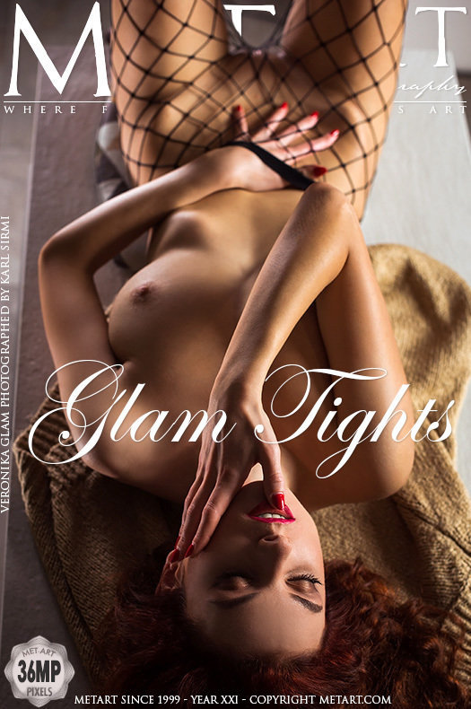On the cover of Glam Tights MetArt is prodigious Veronika Glam