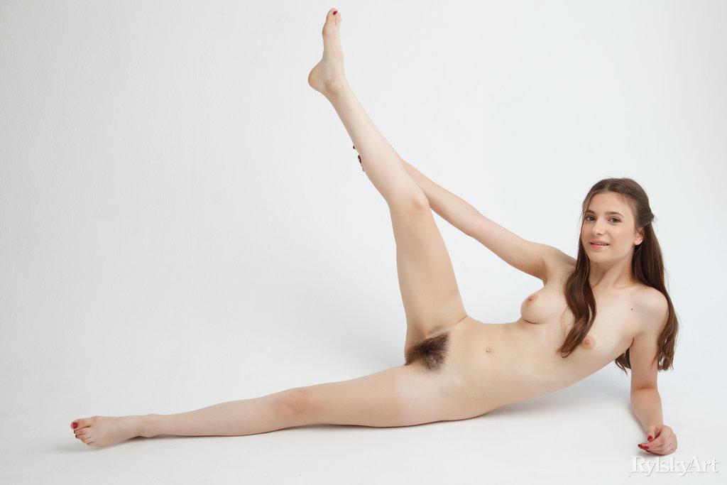 buck naked medium natural boobs slide