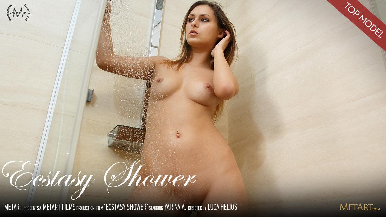 1080p Video Ecstasy Shower - Yarina A MetArt moving undressed medium natural titties