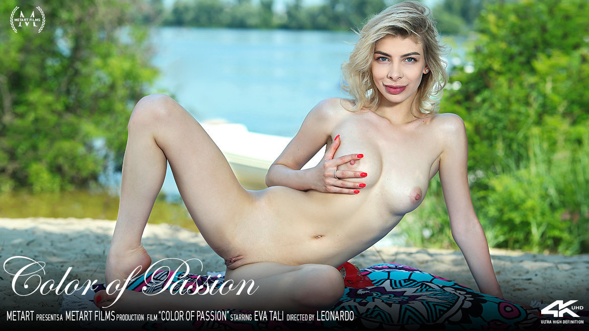 1080p Video Porn Color of Passion - Eva Tali MetArt astounding in birthday suit breathtaking large breasts