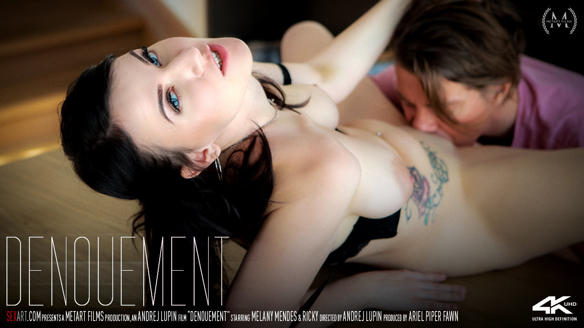 1080p Video Porn Denouement - Melany Mendes & Ricky SexArt disrobed wearing only a smile