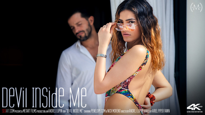 1080p Video Porn Devil Inside Me - Penelope Cum & Nick Moreno SexArt in birthday suit dishabille