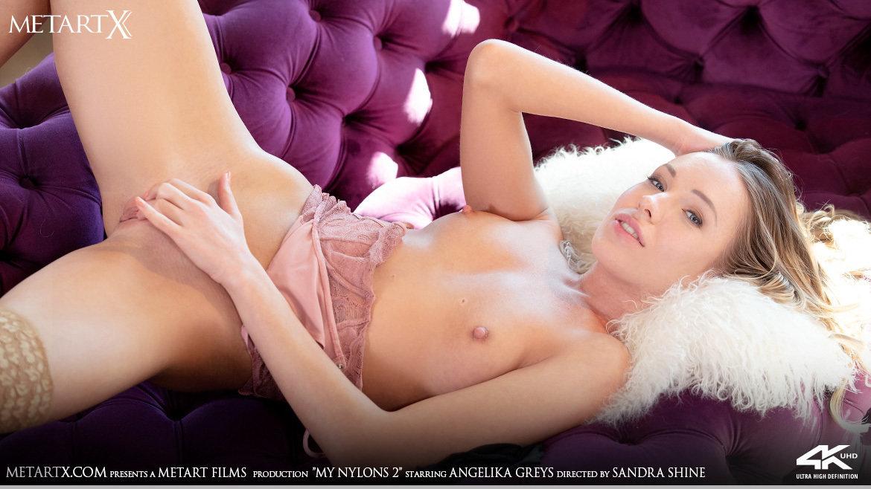 1080p Video Porn My Nylons 2 - Angelika Greys MetArtX skin uncovered medium natural tits