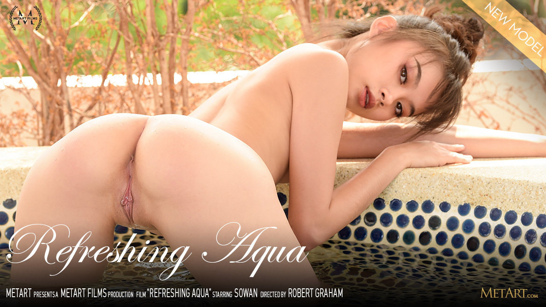 1080p Video Refreshing Aqua - Sowan MetArt magnificent flirtatious