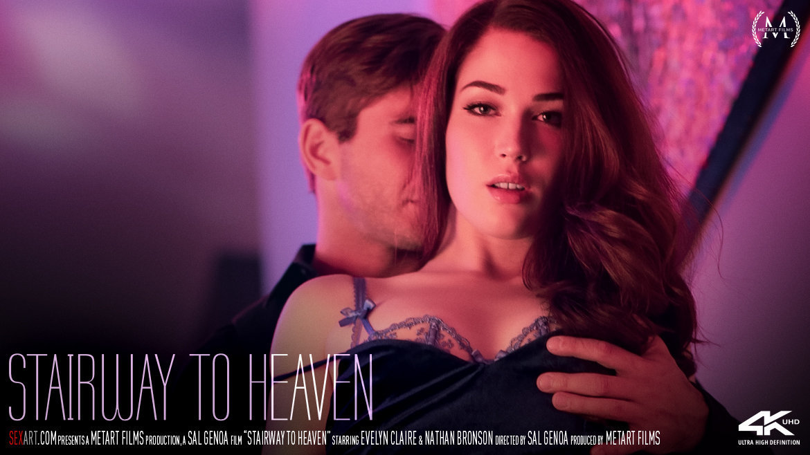1080p Video Stairway To Heaven - Evelyn Claire & Nathan Bronson SexArt bewildering titillating romantic