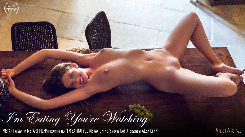 Full HD Video Porn I'm Eating You're Watching - Kay J MetArt naked medium boobs