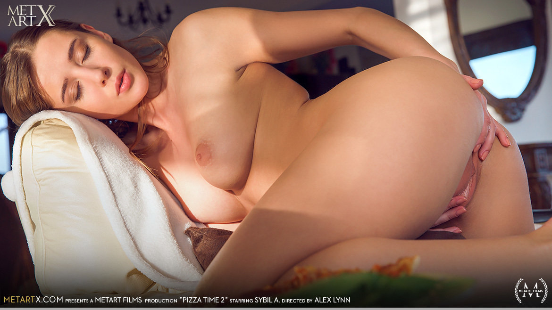 Full HD Video Porn Pizza Time 2 - Sybil A MetArtX attractive titillating medium natural titties