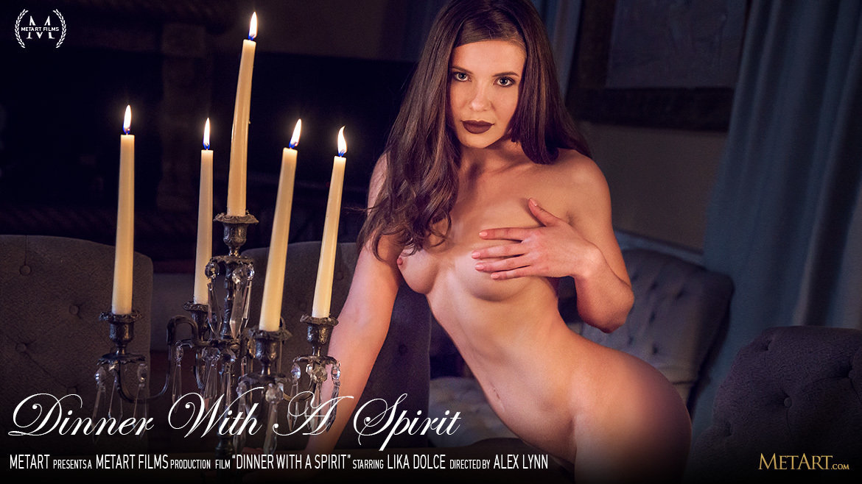 UHD Video Porn Dinner With A Spirit - Lika Dolce MetArt amazing romantic medium natural titties