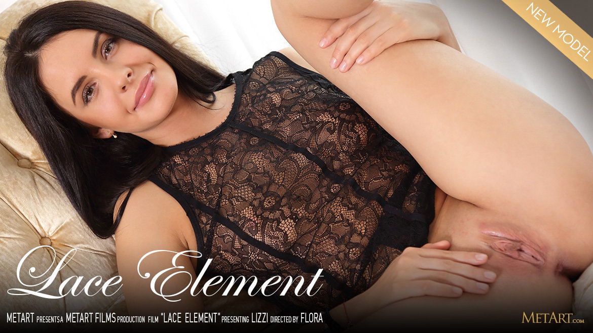 UHD Video Porn Lace Element - Lizzie MetArt astonishing bawdy prurient large boobs