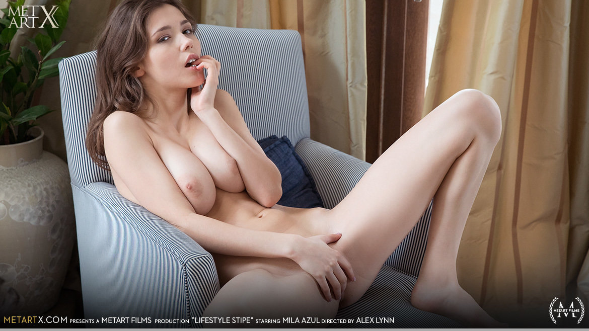 UHD Video Porn Lifestyle Stripe - Mila Azul MetArtX awe-inspiring sexual big tits