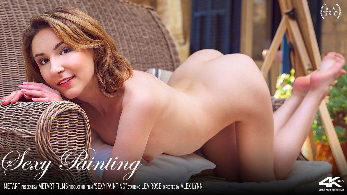 UHD Video Porn Sexy Painting - Lea Rose MetArt unbelievable romantic small naturalbreasts
