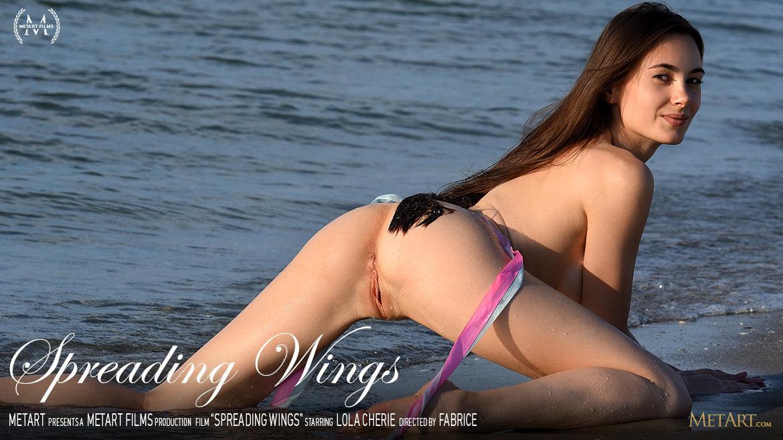 UHD Video Porn Spreading Wings - Lola Cherie MetArt miraculous lascivious medium natural tits