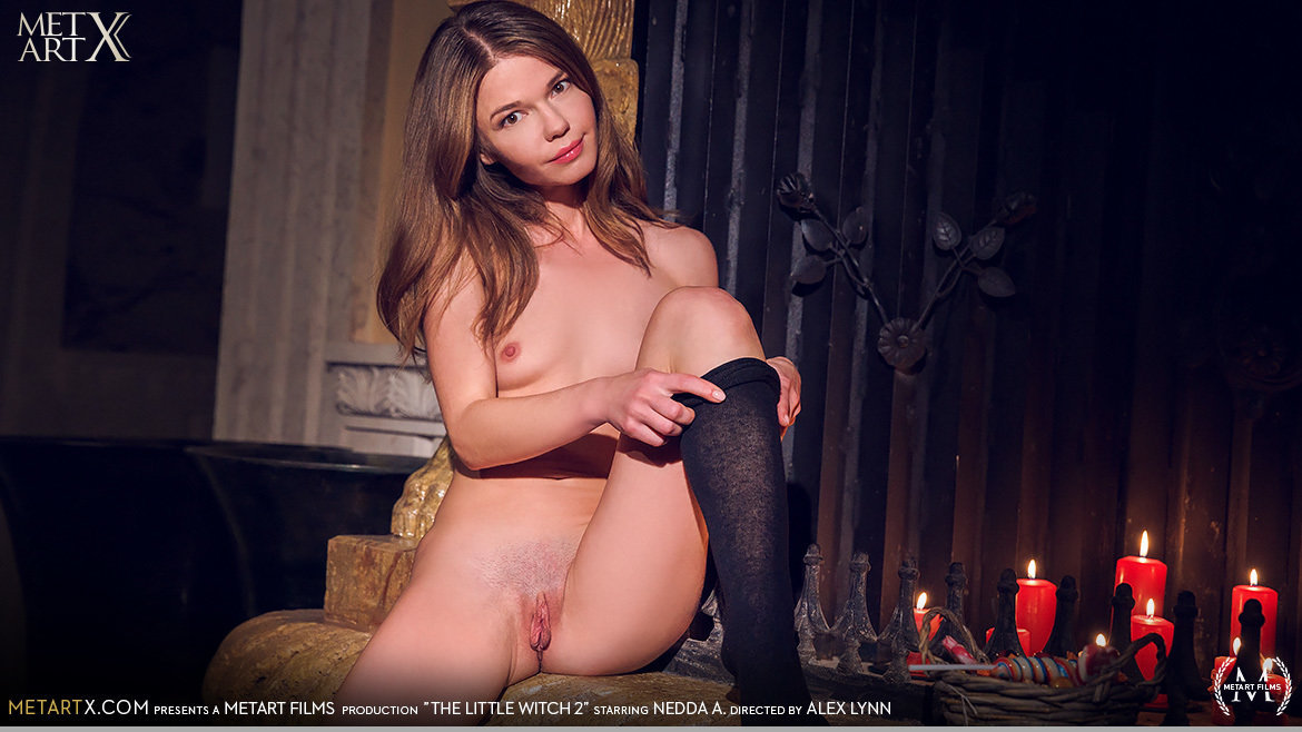 UHD Video Porn The Little Witch 2 - Nedda A MetArtX fabulous exciting small breasts