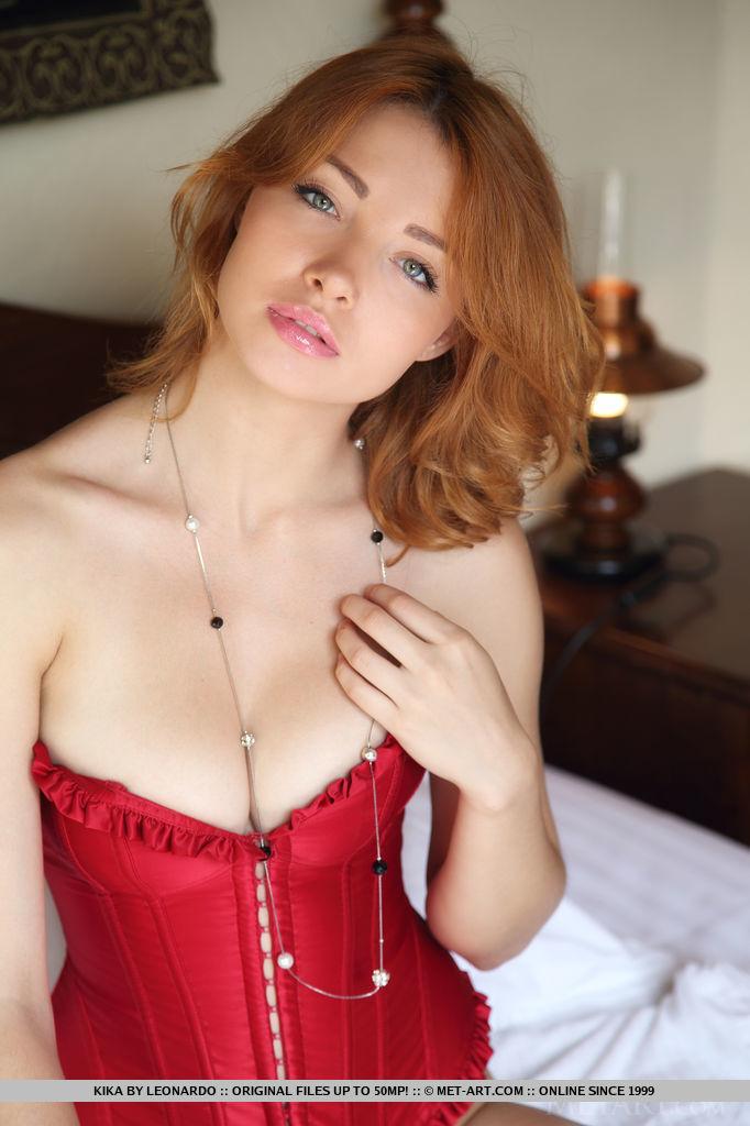 burgundy corset