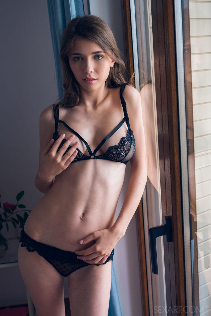 erotic black translucent lingerine