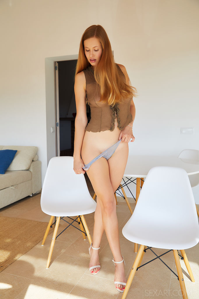 Stella Cardo takes off her panties and waits for your penis